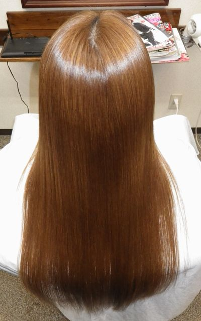 奈良高難易度縮毛矯正攻略技術エンパニ®簡単艶出し美髪矯正アフター