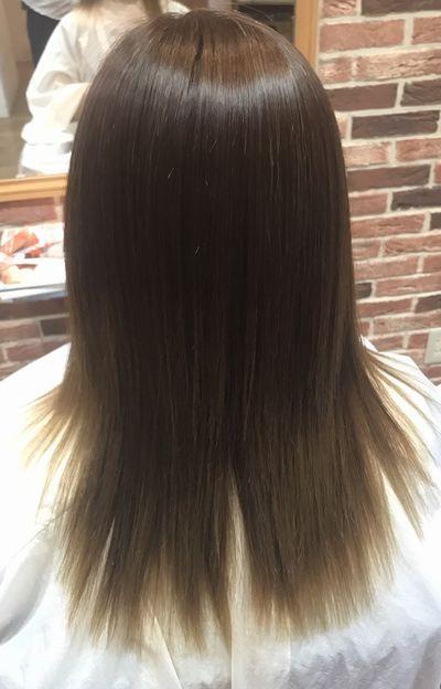 美髪矯正(三重美髪矯正)高難易度な毛髪を攻略した縮毛矯正